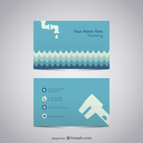 Plumber business card - Impresiku.com