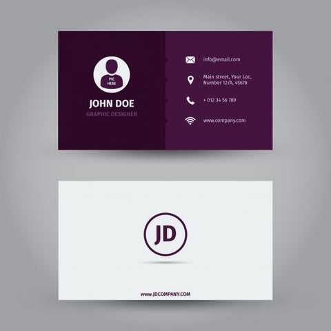 Purple business card design - Impresiku.com