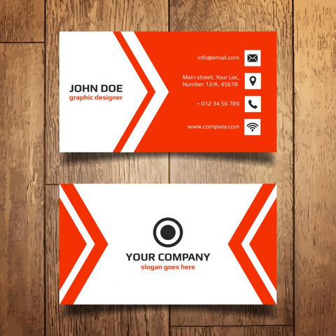 Red Business Card Template - Impresiku.com