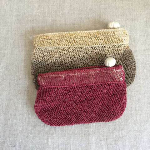 POUCH CORD RED/POCHETTE FILET ROUGE