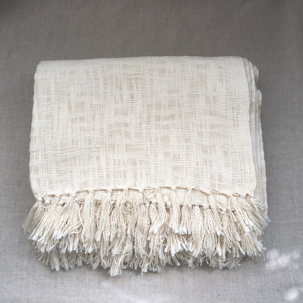 PLAID WEAVING WHITE