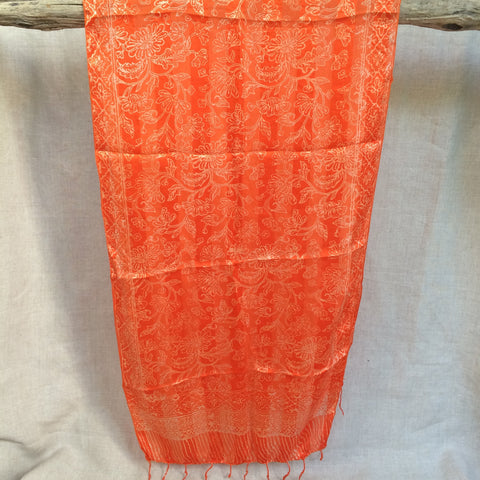 SCARVE SILK ORANGE/ FOULARD SOIE ORANGE