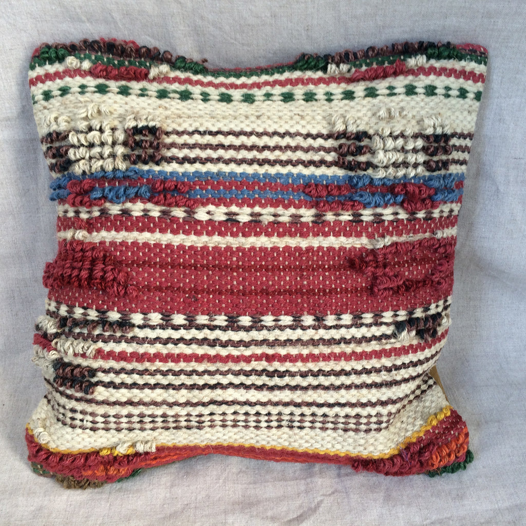 PILLOW WOOD RED /  HOUSSE COUSSIN LAINE RED