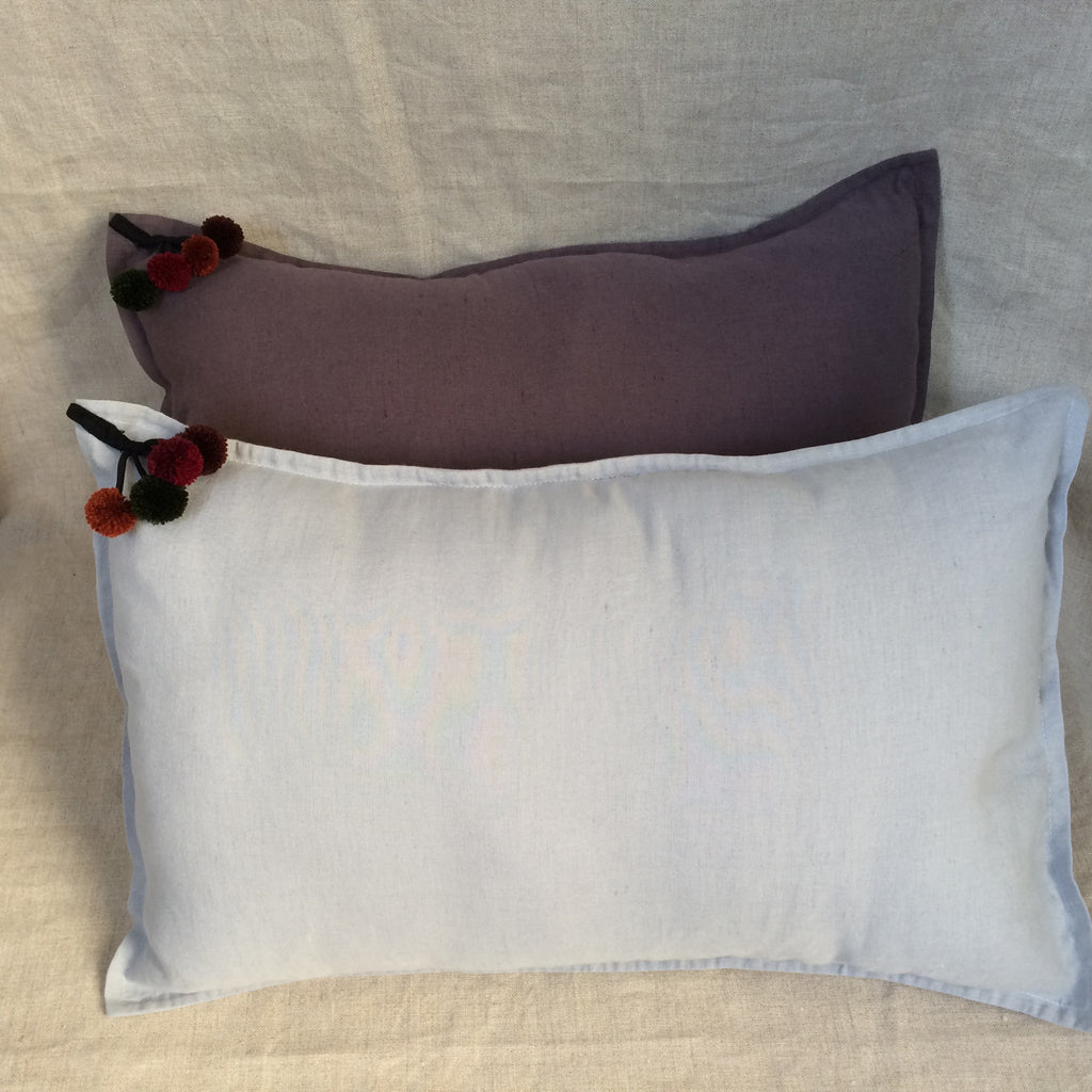 2 PILLOWS COVER POMPON / 2 HOUSSES COUSSIN POMPON