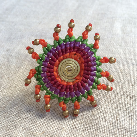 RING ETHNIC PURPLE/BAGUE ETHNIC VIOLET