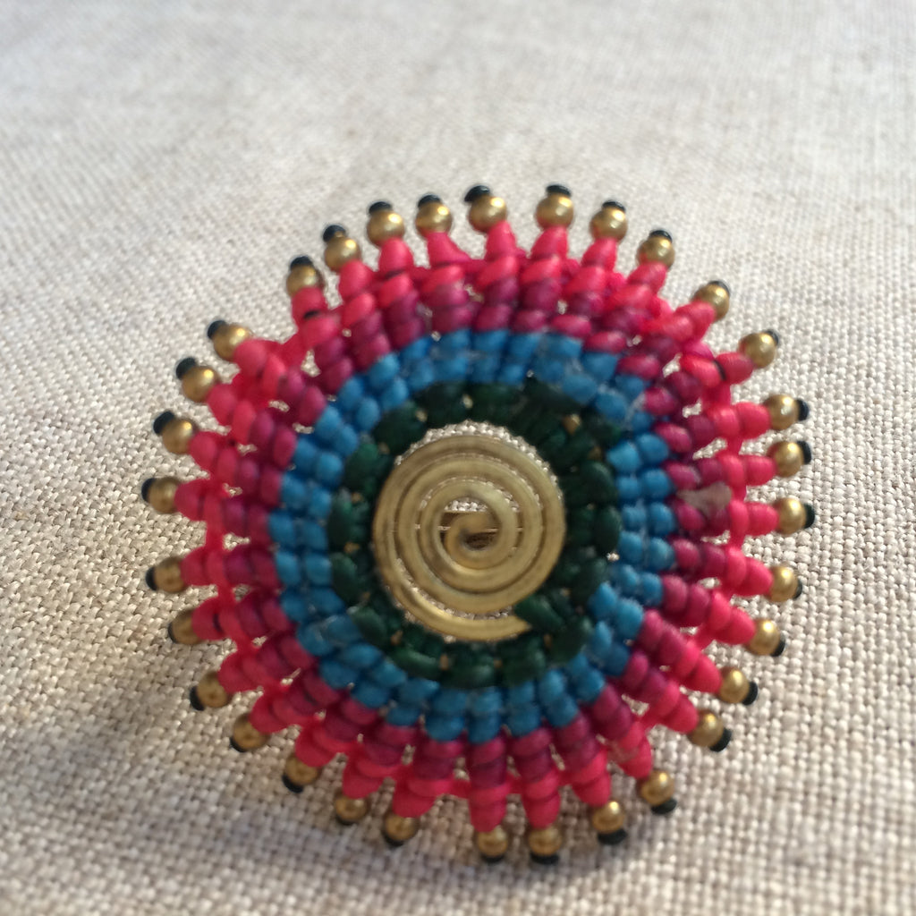 RING ETHNIC PINK/BAGUE ETHNIC ROSE