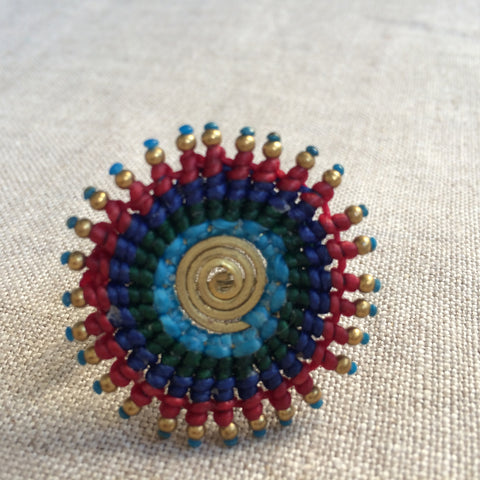 RING ETHNIC BLUE/BAGUE ETHNIC BLEU