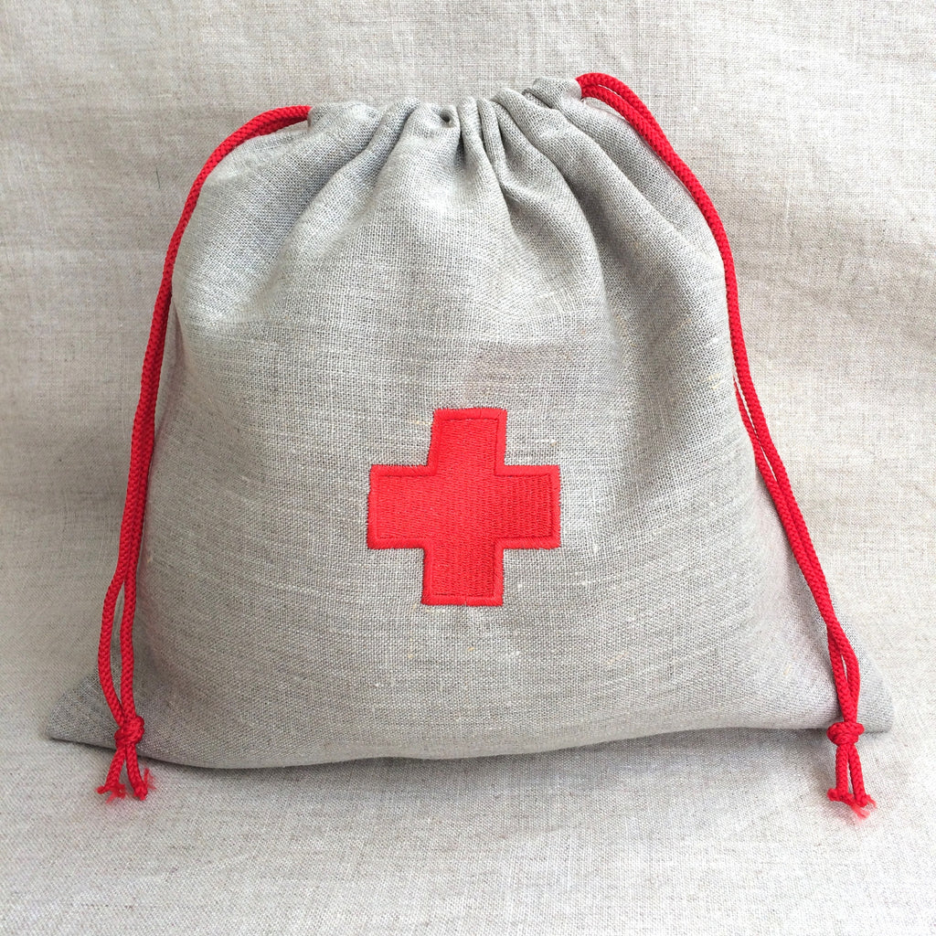 STORAGE BAG FOR PHARMACY RED /SAC RANGEMENT MEDICAMENTS ROUGE