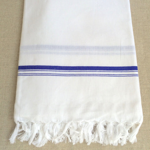 TOWEL HONEY COMB BLUE/ SERVIETTE NID ABEILLE BLEU