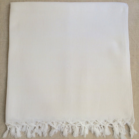 TOWEL HONEY COMB WHITE/ SERVIETTE NID ABEILLE BLANC