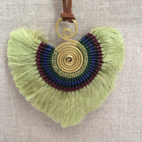 NECKLACE ETHNIC GREEN / COLLIER ETHNIC VERT