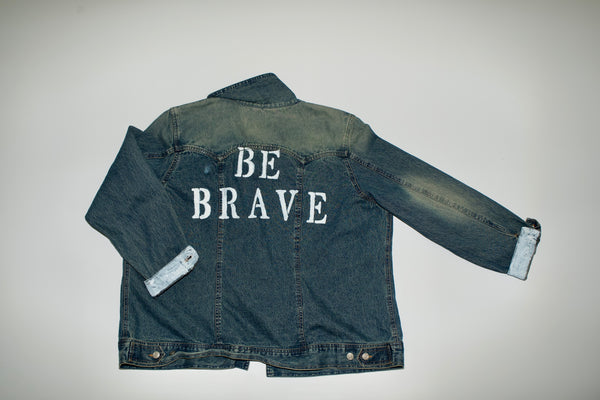Oversized Be Brave Denim Jacket