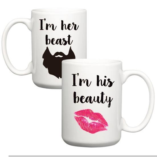 Beauty and Beast Mug Set, Coffee Mug - Do Take It Personally