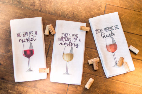 Wine Lover Towel Set, Towels - Do Take It Personally