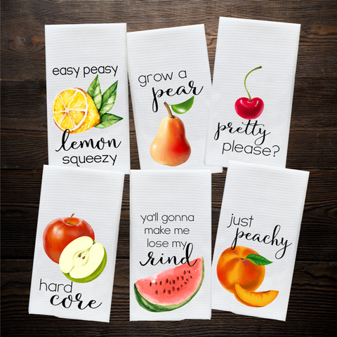 Funny Fruit Kitchen Towels, Towels - Do Take It Personally