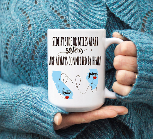 Sisters Distance Mug, Coffee Mug - Do Take It Personally