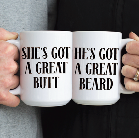 Butt and Beard Mug Set