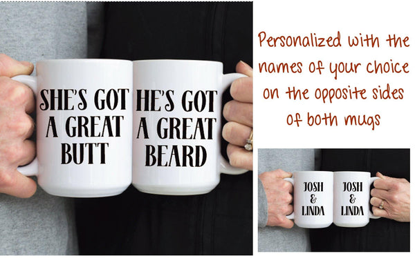Butt and Beard Mug Set, Coffee Mug - Do Take It Personally