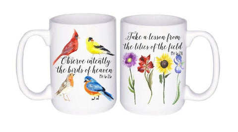 Flower & Birds Scripture Mug Set, Coffee Mug - Do Take It Personally