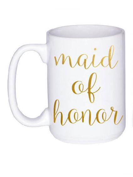 Maid of Honor Gift - Personalized Gift for Bridesmaid - Bridal Party Gift - Maid of Honor Mug - Wedding Party Gift - Maid of Honor Proposal,  - Do Take It Personally