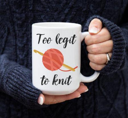 Crochet Mug, Coffee Mug - Do Take It Personally