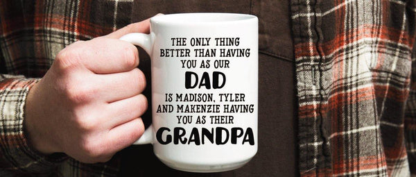 Personalized Grandpa Mug - Gift for Grandfather - Worlds Best Grandpa - Gift for Dad - Personalized Coffee Cup - Custom Mug for Grandparent,  - Do Take It Personally