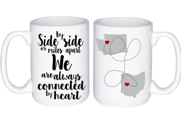 Long Distance Boyfriend Mug - Gift for Boyfriend - Anniversary Gift for Girlfriend - Long Distance Love - State to State Mug - Coffee Mug,  - Do Take It Personally