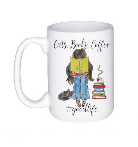 Cats and Books Lover Mug, Coffee Mug - Do Take It Personally