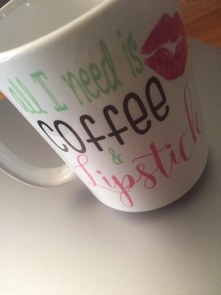 Coffee and Lipstick Mug, Coffee Mug - Do Take It Personally