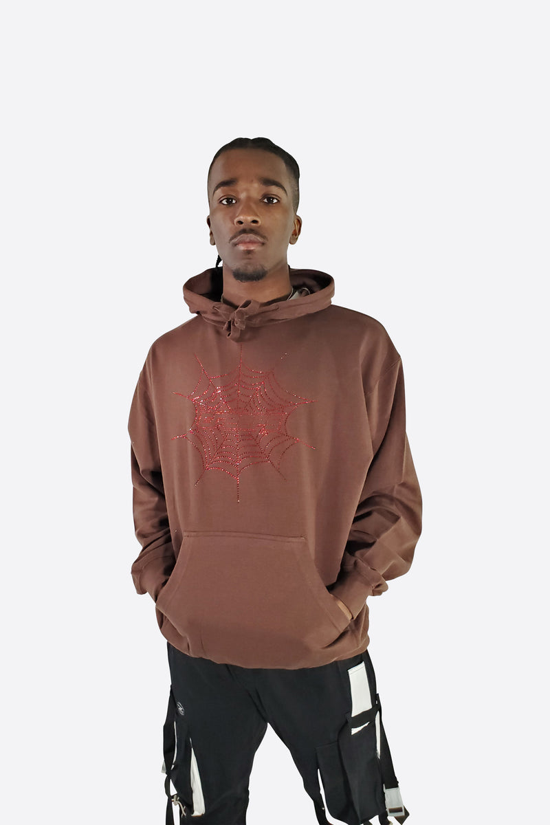 WORLDWIDE WEB HOODIE - BROWN