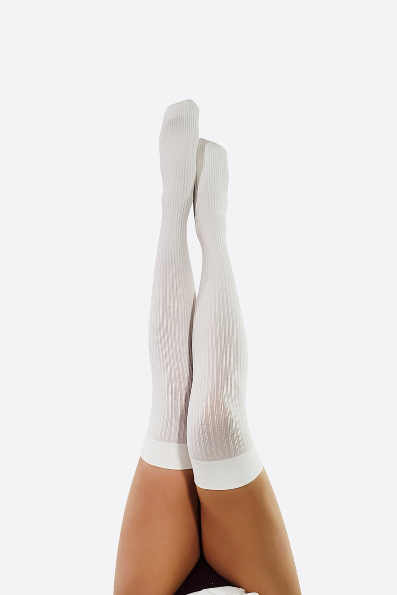 RIB KNIT THIGH HIGH SOCKS