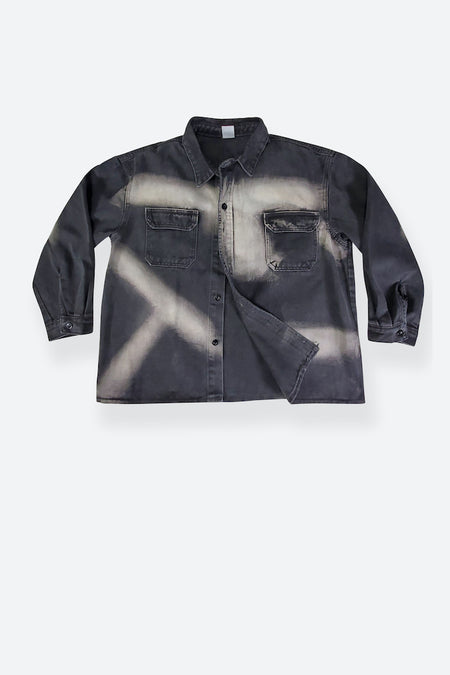 GUVNOR CROPPED BUTTON UP