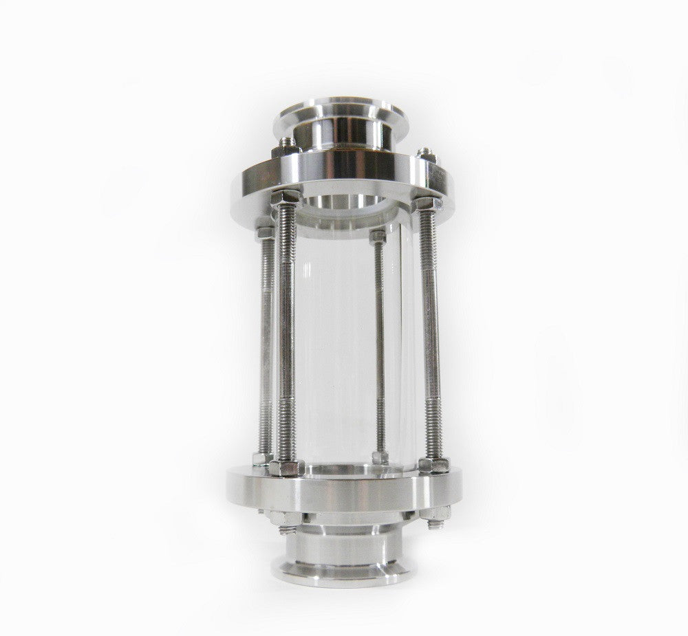 Quot tri clamp sight glass with temp resist borosilicate