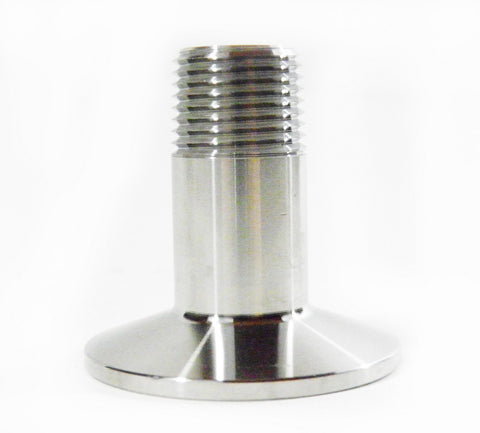 "1.5"" Tri Clamp to 1/2"" Male NPT Adapter, 304 Stainless Steel"