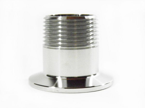 """1.5/"""" Tri Clamp to 3//4/"""" NPT Male SS304 Sanitary Fitting Home Brew Connector"""