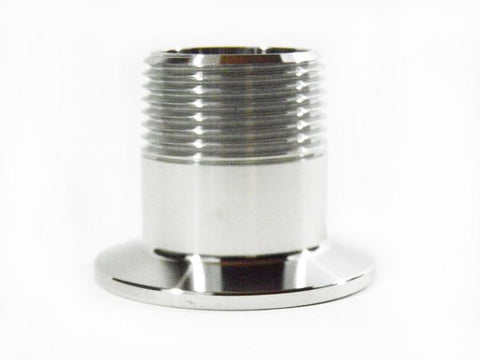 "1.5"" Tri Clamp to 1"" Male NPT Adapter, 304 Stainless Steel"