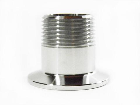 "1.5"" Tri Clamp to 1.5"" Male NPT Adapter, 304,Stainless Steel NPT Adapter"