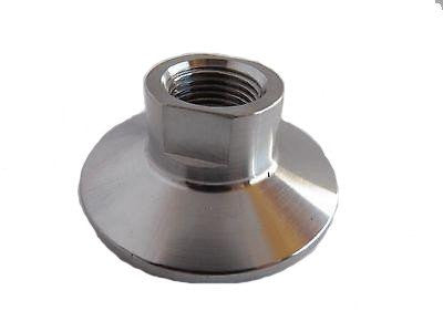 "1.5"" Tri Clamp to 3/8"" Female NPT Adapter, 304 Stainless Steel NPT Adapter"