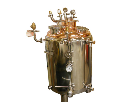 45 Gallon Jacketed Stainless Steel Boiler with a Copper Top