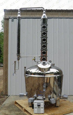 "150 Gallon Jacketed Standard Series Still with 8""  Bubble Plate Column"