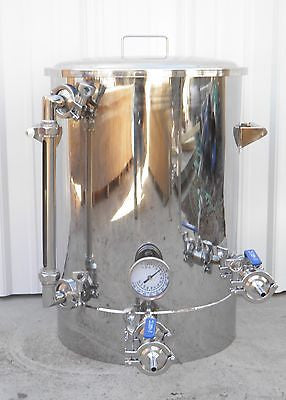 15 Gallon Brew Kettle with Tangential Inlet, Sight Glass
