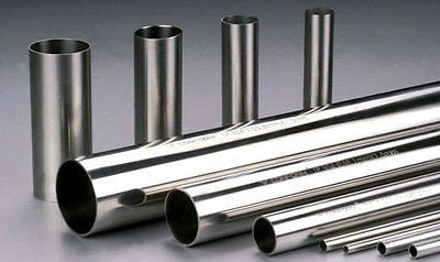 "10"" x 48""  Polished, 304 Stainless Steel Pipe, Tubing. 2mm, .787"", 14 Guage"