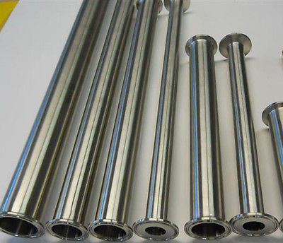 "10"" x 24"" Long Sanitary Spool Tri Clamp Tri Clover Stainless Steel Pipe Tubing"