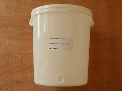 Plastic Fermenter with Lid, 30L Liters 8 Gallons Home Brewing & Distilling