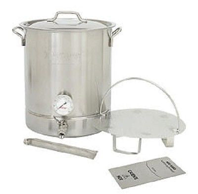 8 Gallon Brew Kettle Fermenter, Mash Cooker, 6 Pieces