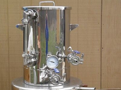 9.2 Gallon Brew Kettle, Home Brewing, Beer, Stainless Steel