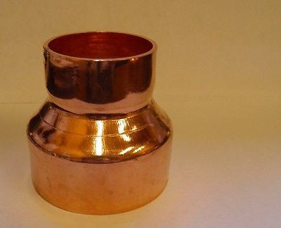 "Copper Reducer 3"" X 2""CXC Fitting Coupling for Moonshine Still Flute Column HVAC"