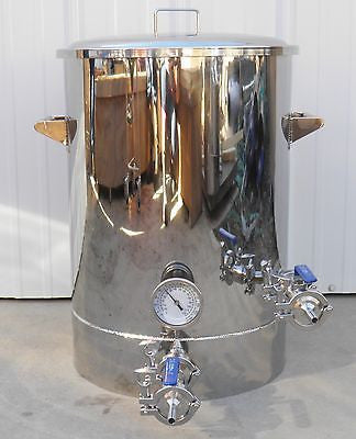 15 Gallon Brew Kettle with Thermowell, Tangential Inlet