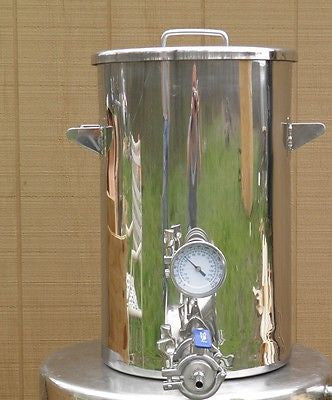 9.2 Gallon Hot Liquor Tank, Thermometer, Home Brewing, Stainless Steel