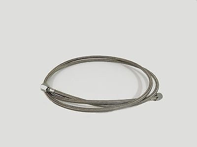 "6' BY 1/4"" SAE FJIC PTFE SS304 WRAPPED HOSE FOR CLOSED LOOP EXTRACTORS"